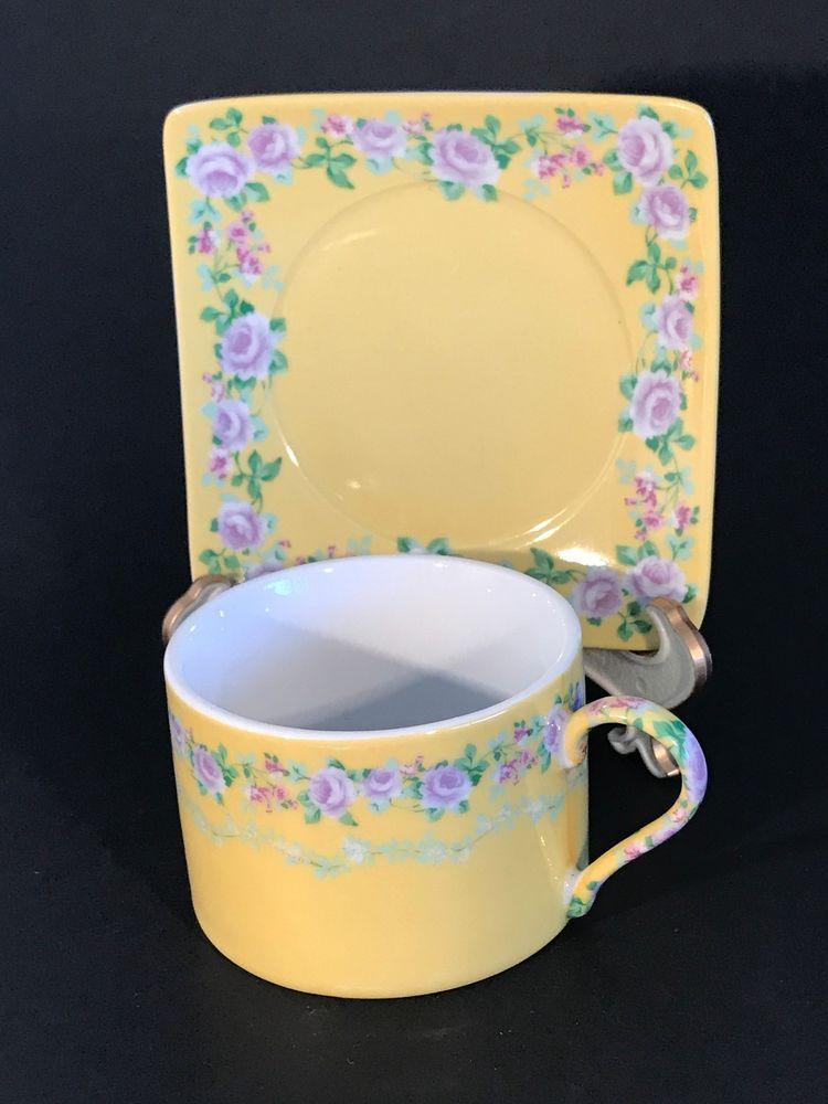 Clic Coffee Tea Cup Square Saucer Set