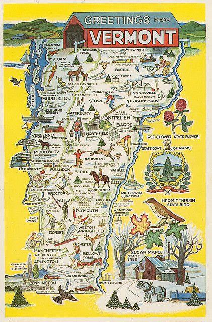 Love To Vermont I Love Vermont Pinterest Vermont Road - Vermont map usa