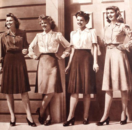 Women s 1940s Victory Suits and Utility Suits   1940s Fashion     1940s skirts and blouses