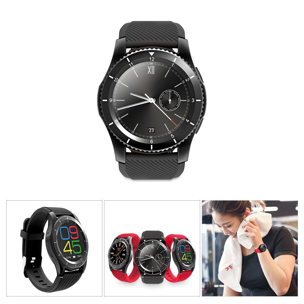 FeaturesBluetooth 4.0 smart watch, 3 modes switchable