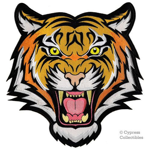 979bebb4a689 Details about LARGE SIZE BENGAL TIGER iron-on PATCH embroidered WILD ...