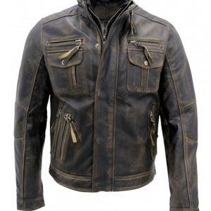 Vintage Black Warm Leather Jacket In USA, Canada, UK