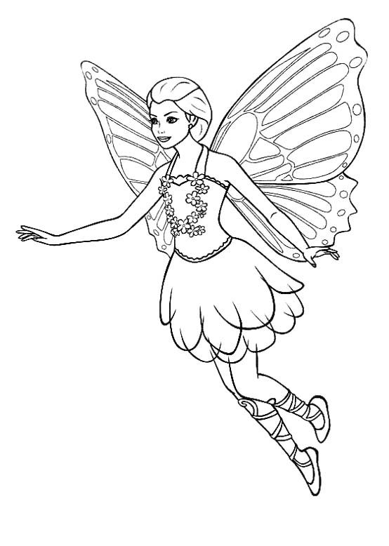 Pictures Flying Fairy Coloring Pages Fairy Coloring Pages