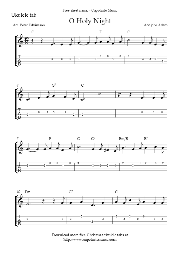 O Holy Night Ukulele Songs Pinterest Guitar Guitar Tabs And