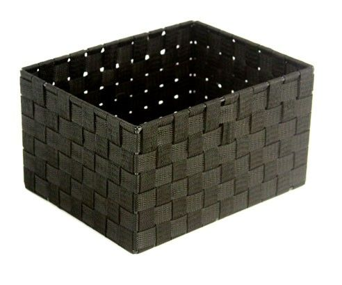 Small Cascade Black Rectangular Bin available from Storables.com