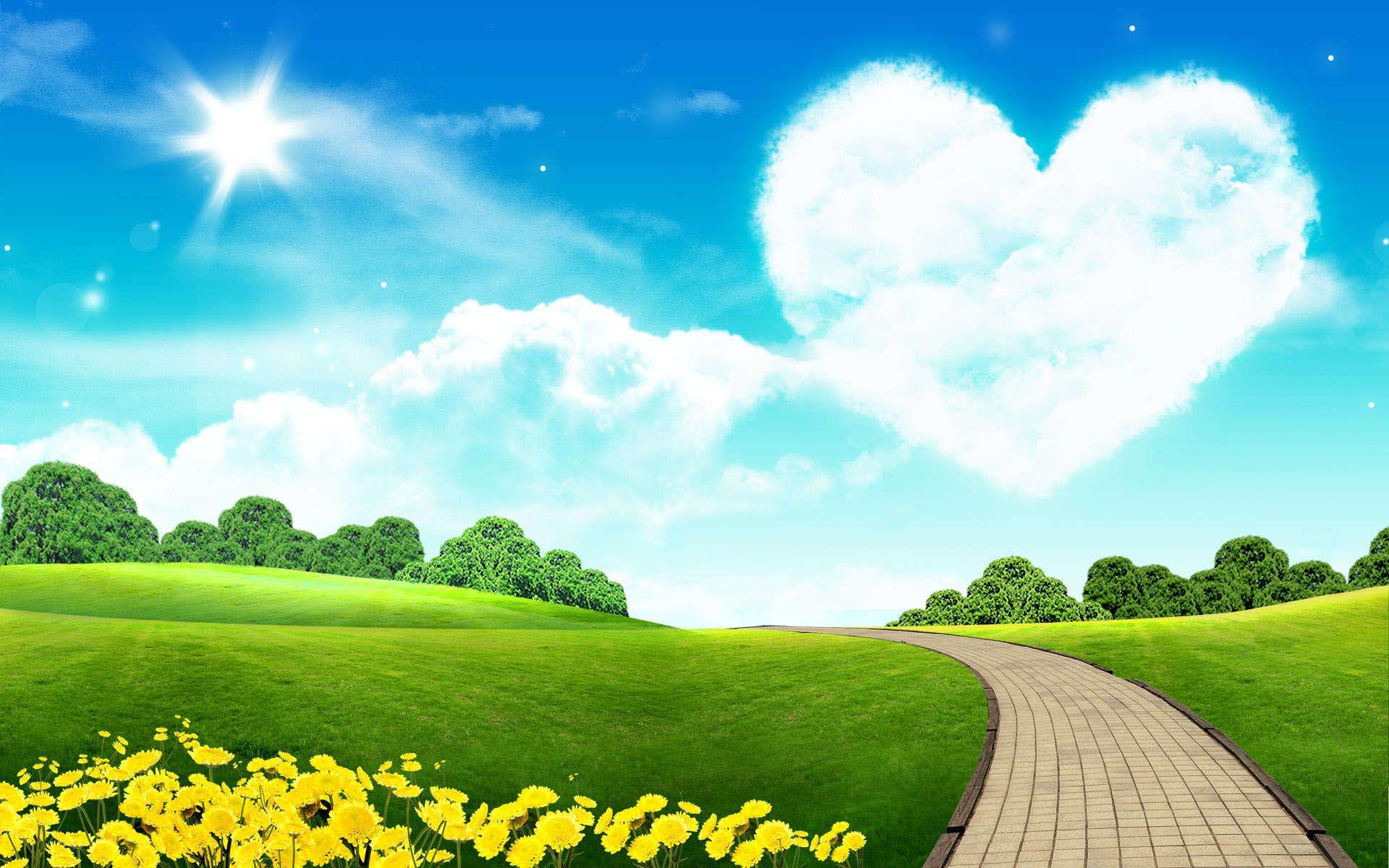 View And Download Love Heart Shape Tree Flowers 4k Ultra Hd Mobile Wallpaper In 2020 Tree Wallpaper Backgrounds Beautiful Landscape Wallpaper Love Wallpapers Romantic