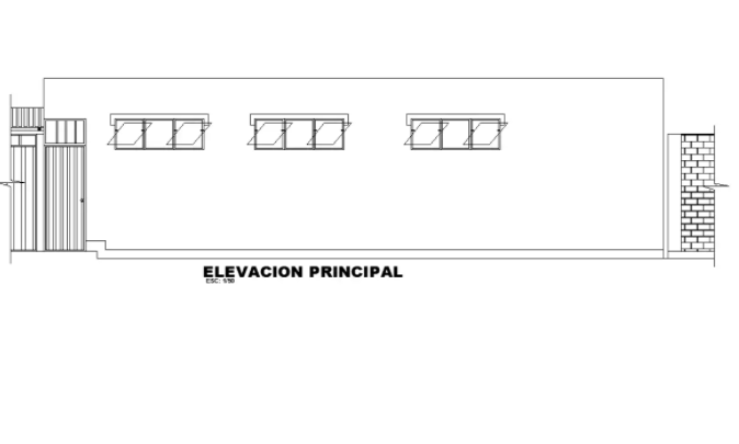 Clinic Building Side Elevation Drawing Free Download DWG File