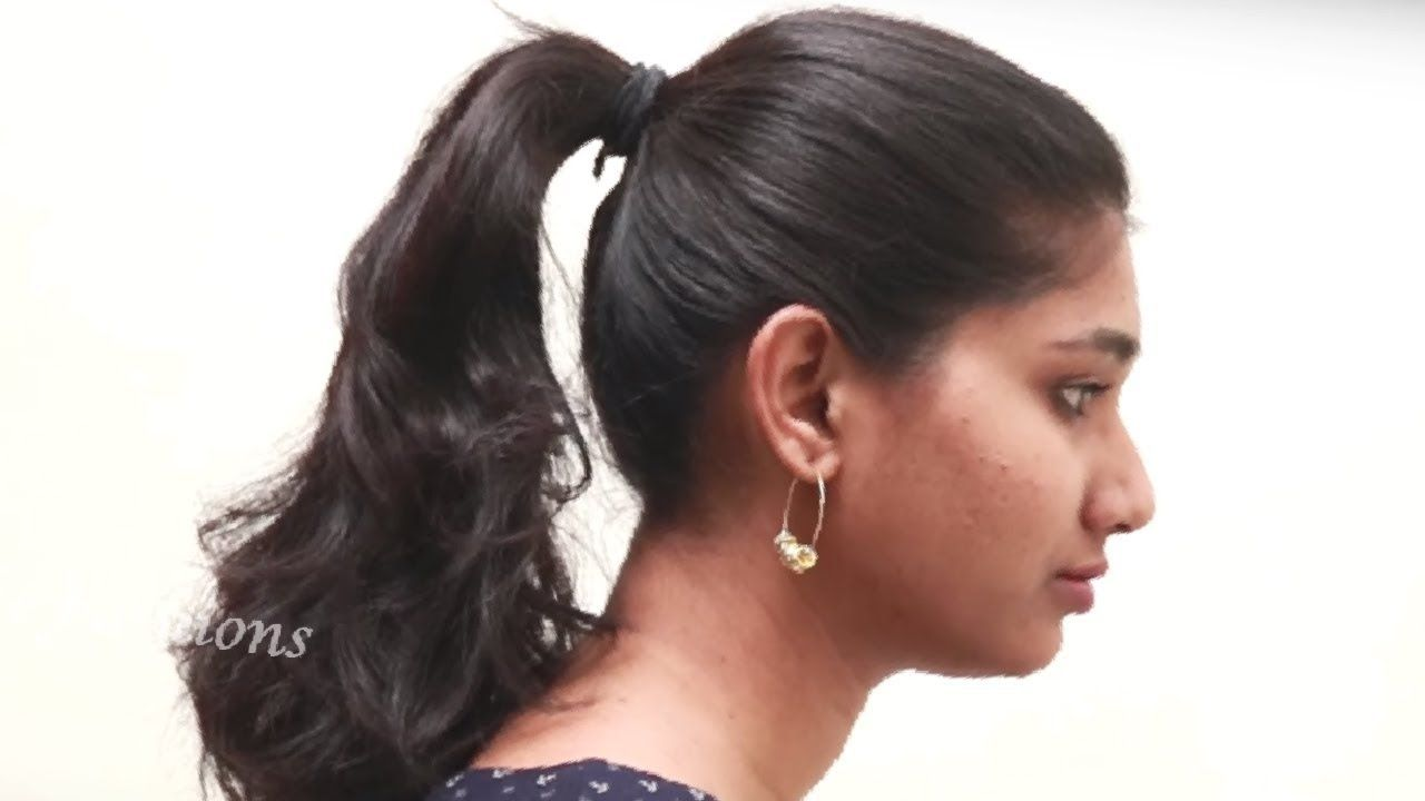 quick ponytail hair style step by step tutorial videos 2018 || girls