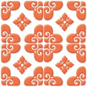 Decorative Porcelain Tile Entrancing Bonne Relevã© Decorative Tile Porcelain Tile Orange On White 8 Design Decoration