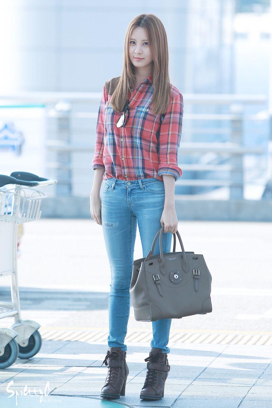 snsd seohyun airport fashion 140906 2014 seohyun