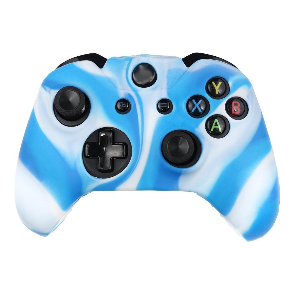 White Blue Xbox one Controller silicon Cover Case | Gain