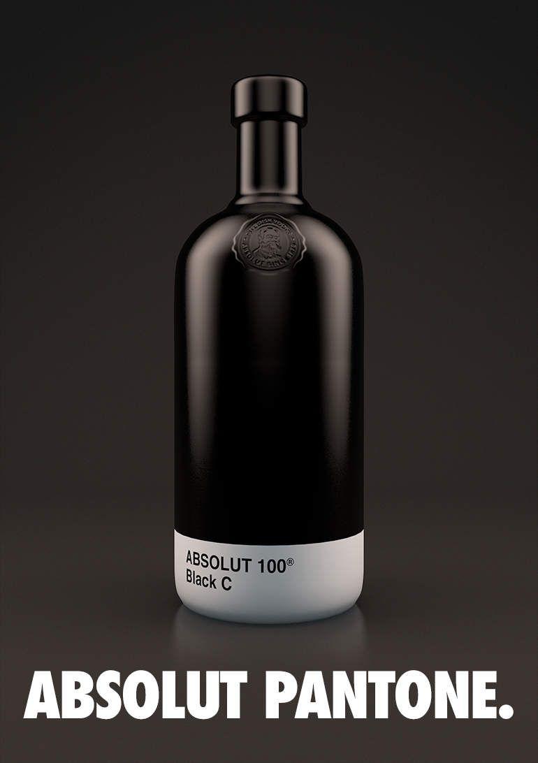 botellas Absolut Vodka Pantone