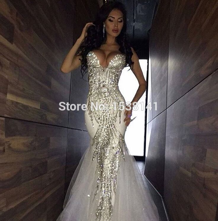 Find More Wedding Dresses Information About Robe De Mariee Sexy New 2017 Bling Beads Crystal Mermaid
