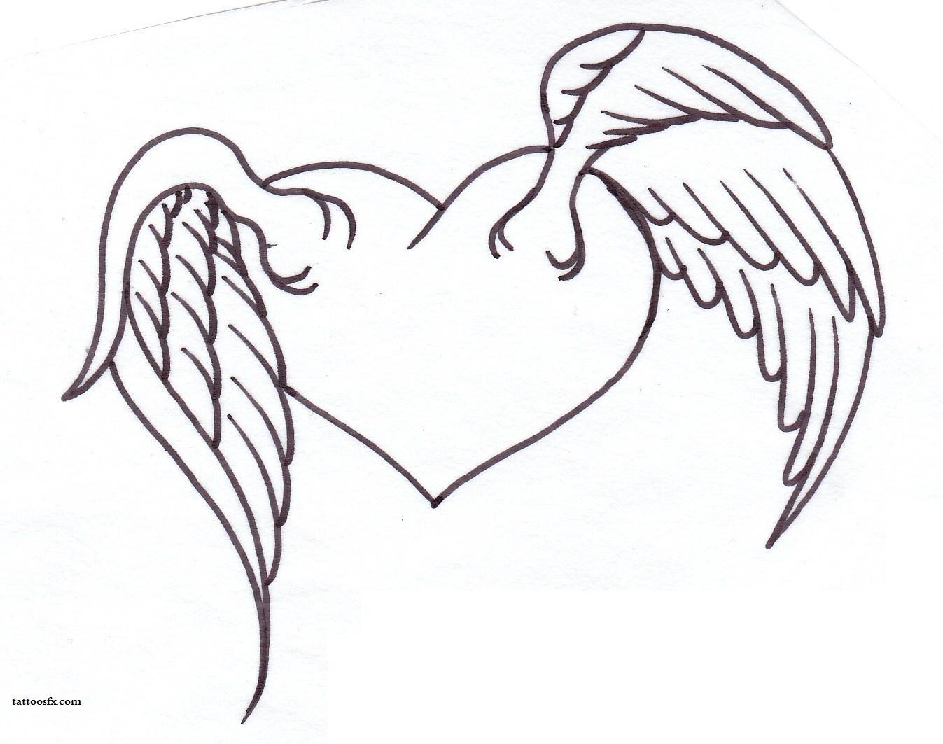 картинки как нарисовать сердце с крыльями красивые вид деятельности