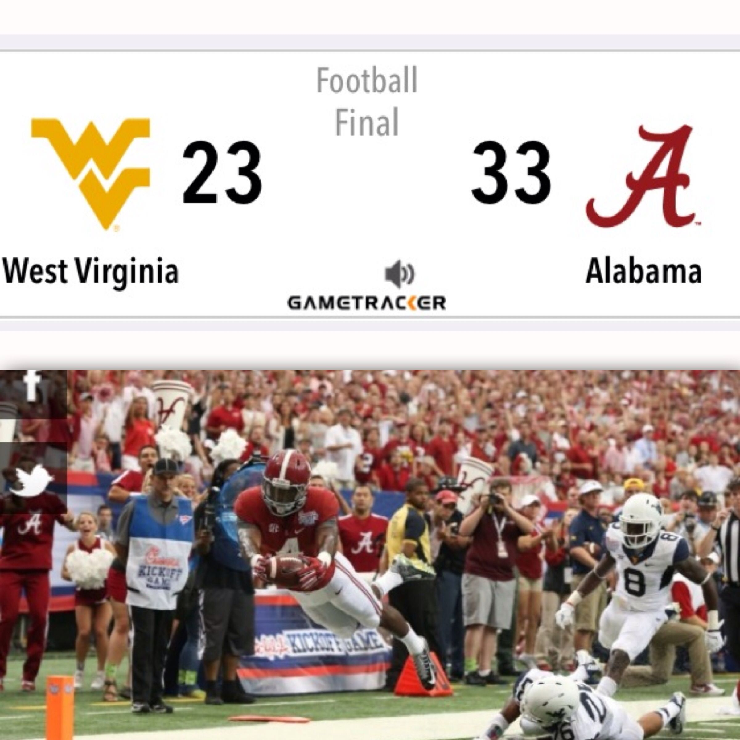 First WIN for B. Sims ROLL TIDE!!