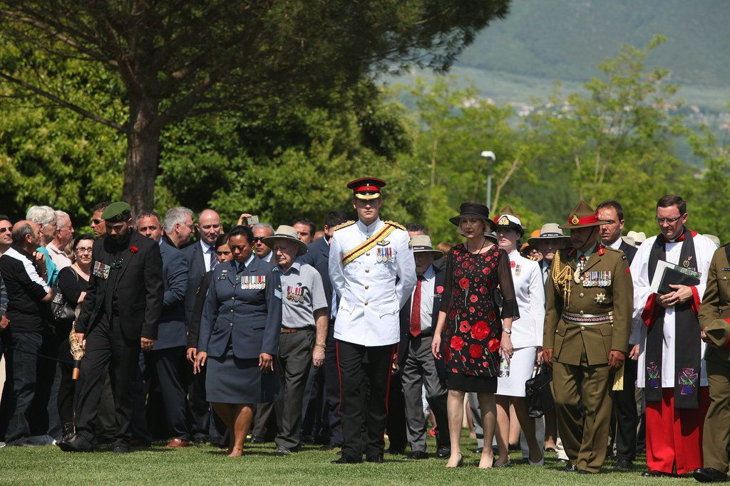 Amid Hookup Rumors, Prince Harry Fulfills His Royal Duties: Prince Harry visited Cassino, Italy, on Saturday, honoring New Zealand troops who sacrificed their lives to take Monte Cassino during WWII.