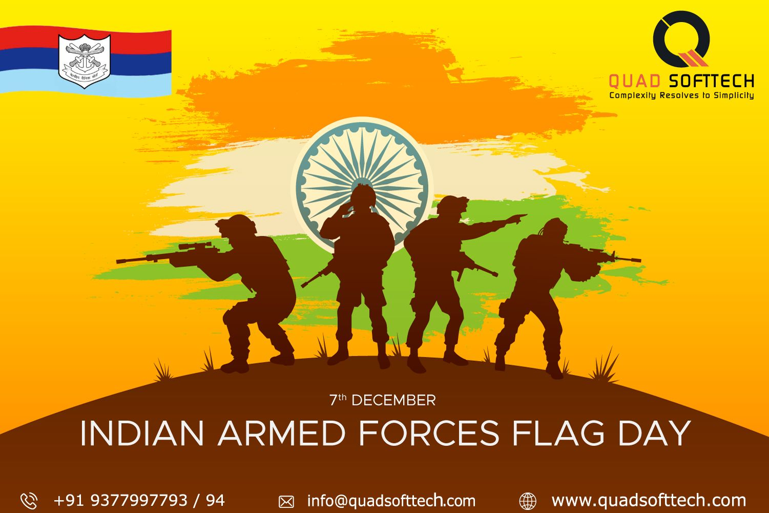 Wishing All The Men In Uniform A Very Happy Indian Armed Forces Flag Day And Thanking Them For Fulfilling Armed Forces Flag Day Web Design Company Armed Forces