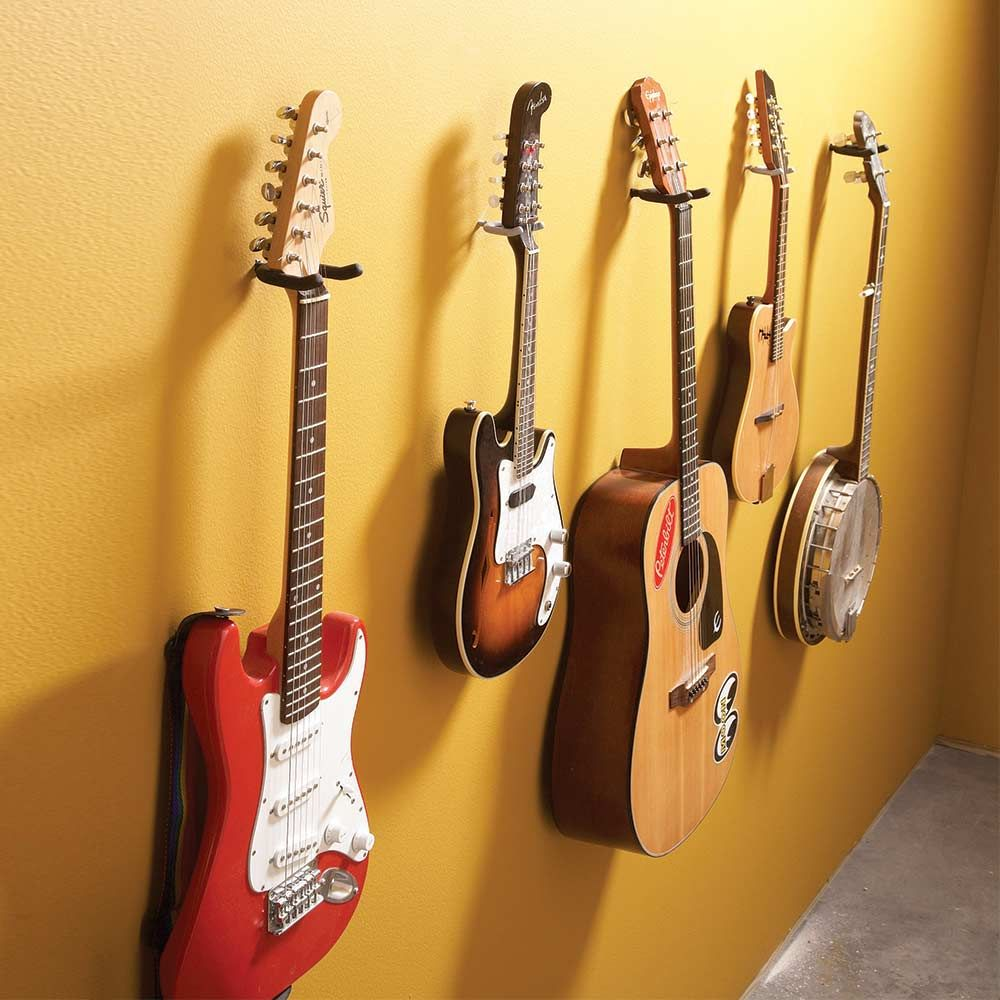 This Guitar Wall is an example of a simple and functional way to ...