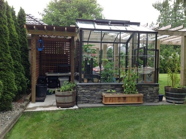 the legacy greenhouse with potting shed what a cute combination our customer sent in this photo of our legacy greenhouse with a - Garden Sheds With Greenhouse