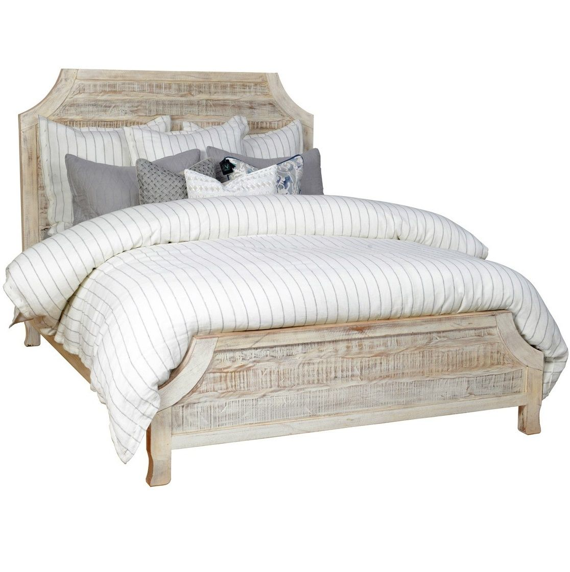 Vintage Rustic Reclaimed Wood Aria Queen Size Bed Frame In Grey White Finish Our Bedroom Furniture Is Constructed From Solid Hardwoods