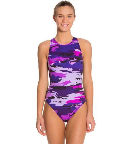 Nike Women S Painted Camo Water Polo High Neck Tank At Swimoutlet Com Free Shipping Nike Women High Neck Tank Water Polo
