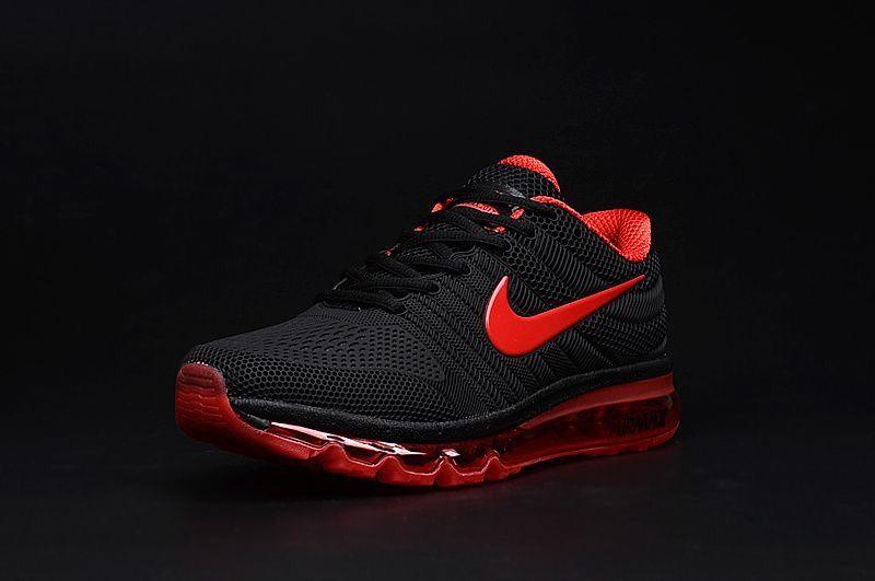 Nike Air Max 2017 Black Red Shoes in 2020 Nike air max  Nike air max