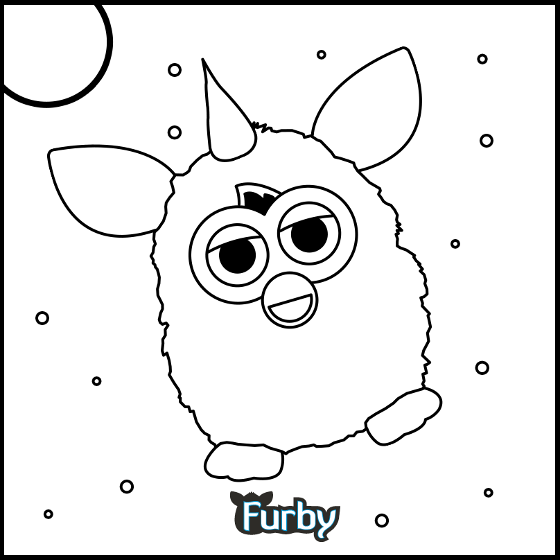 No need to stay in the lines. You KNOW Furby wouldn't