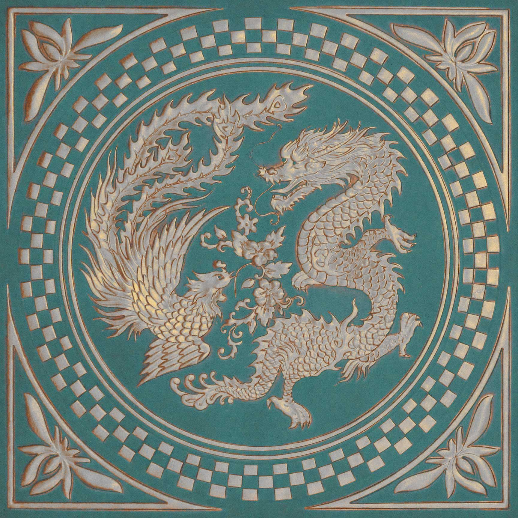 Chinese Dragon Printed Ceiling Tile Pinterest Chinese Dragon