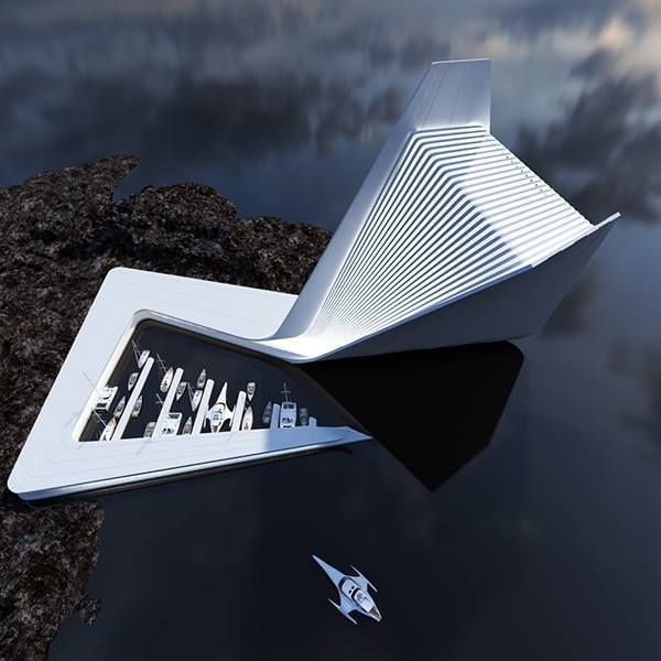 Architectural Concepts by Roman Vlasov  Striking conceptual projects by Ukrainian designer and architect Roman Vlasov.