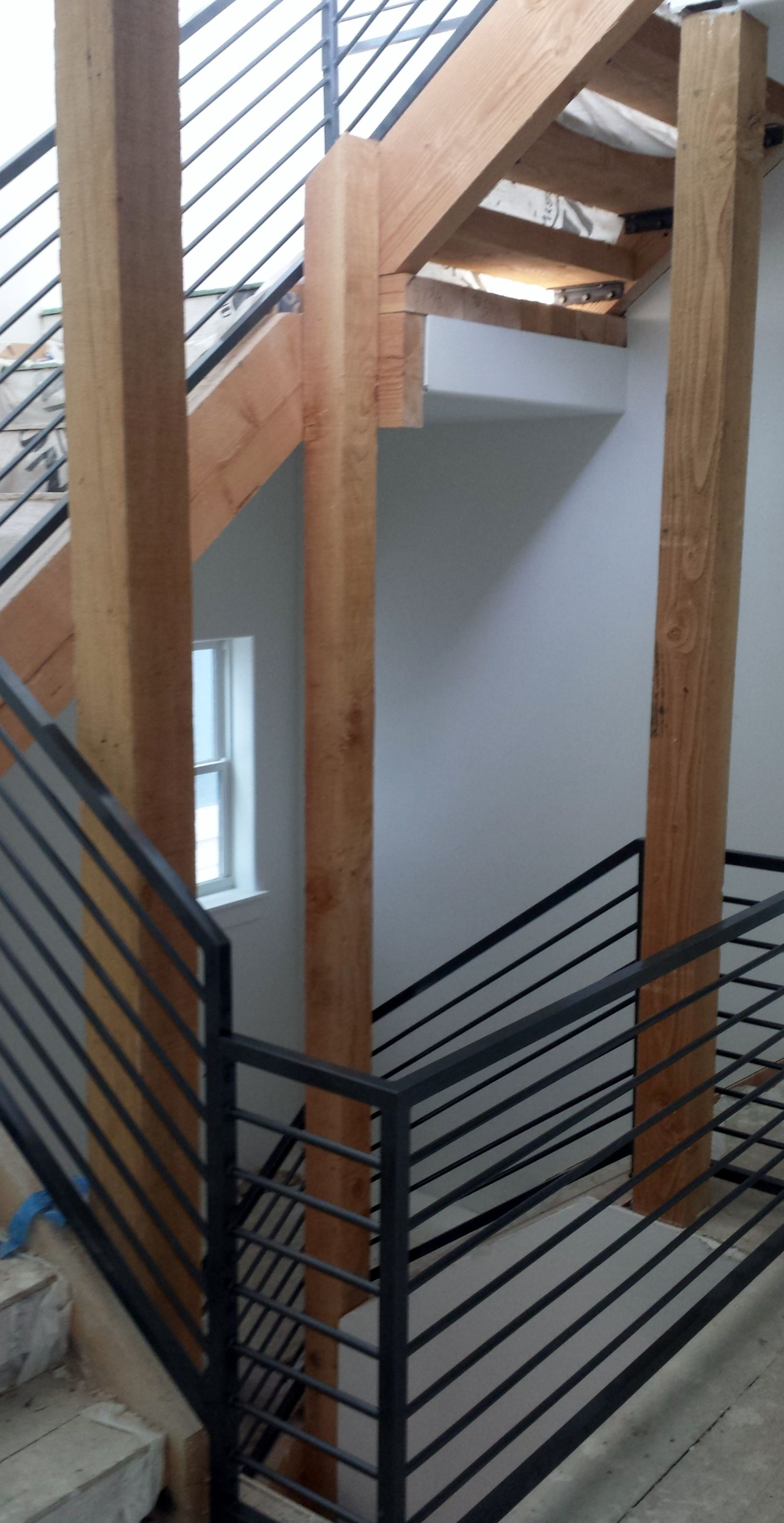 Unique Stair Rail fabricated and installed by Frontier ...
