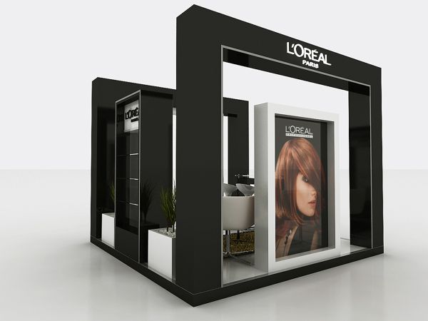 Cosmetic Exhibition Stand Design : L oreal booth by hossam khattab via behance