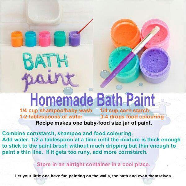 Diy Bath Paint Recipe