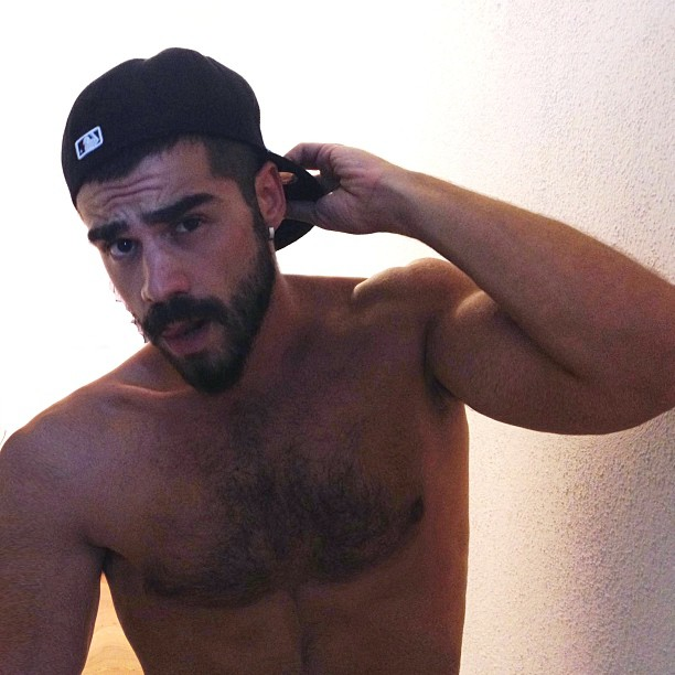 Cute guy with cap nice beard and stache and chest hair men id nice beard and stache and chest hair fandeluxe Epub