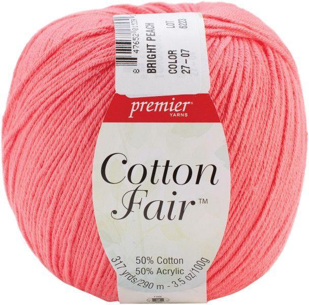 Cotton Fair Solid Yarn-Bright Peach
