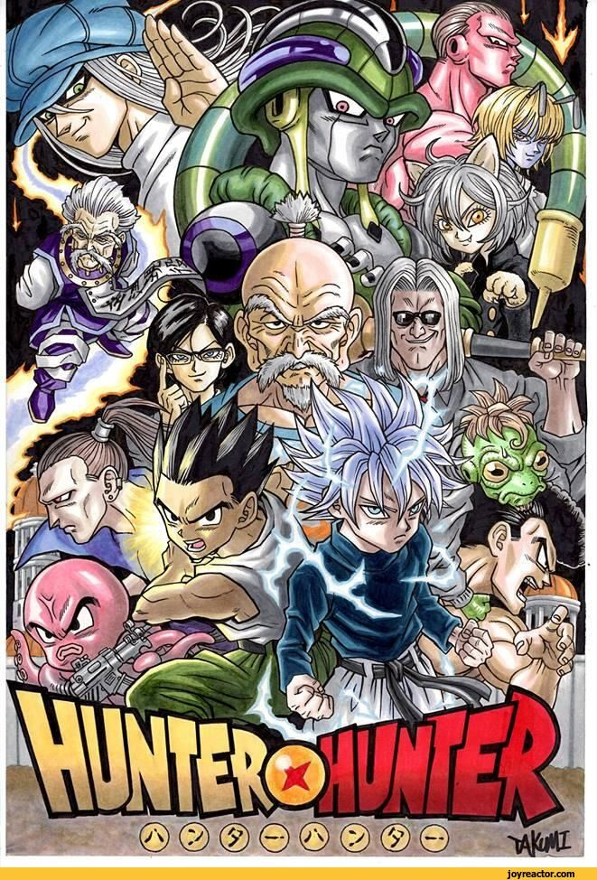 Image result for dbz and hxh xover