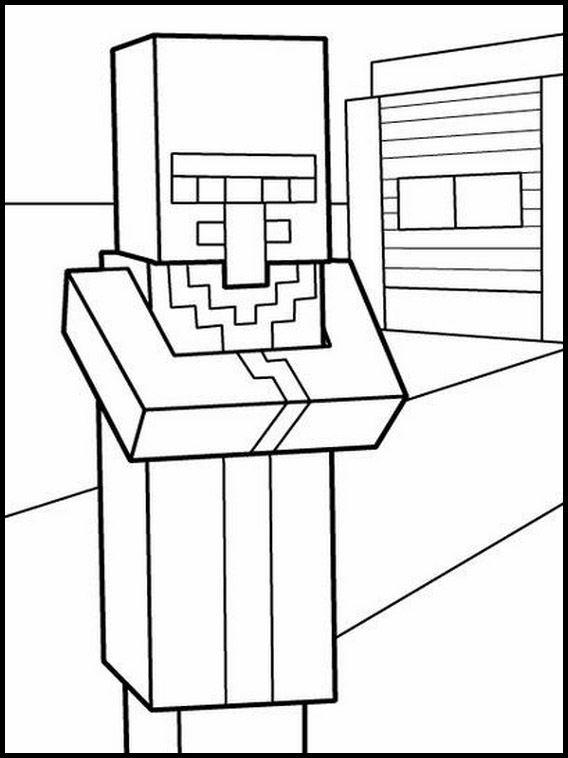 Dibujos para Colorear. Dibujos para imprimir y pintar Minecraft 3 ...