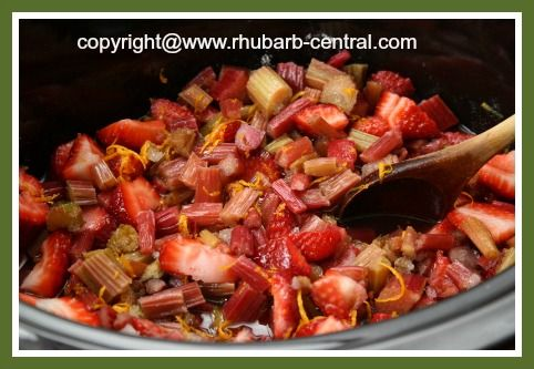 Strawberry Rhubarb CROCKPOT Sauce RECIPE