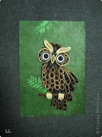 I should try to make this quilled owl! Great, intricate pattern!