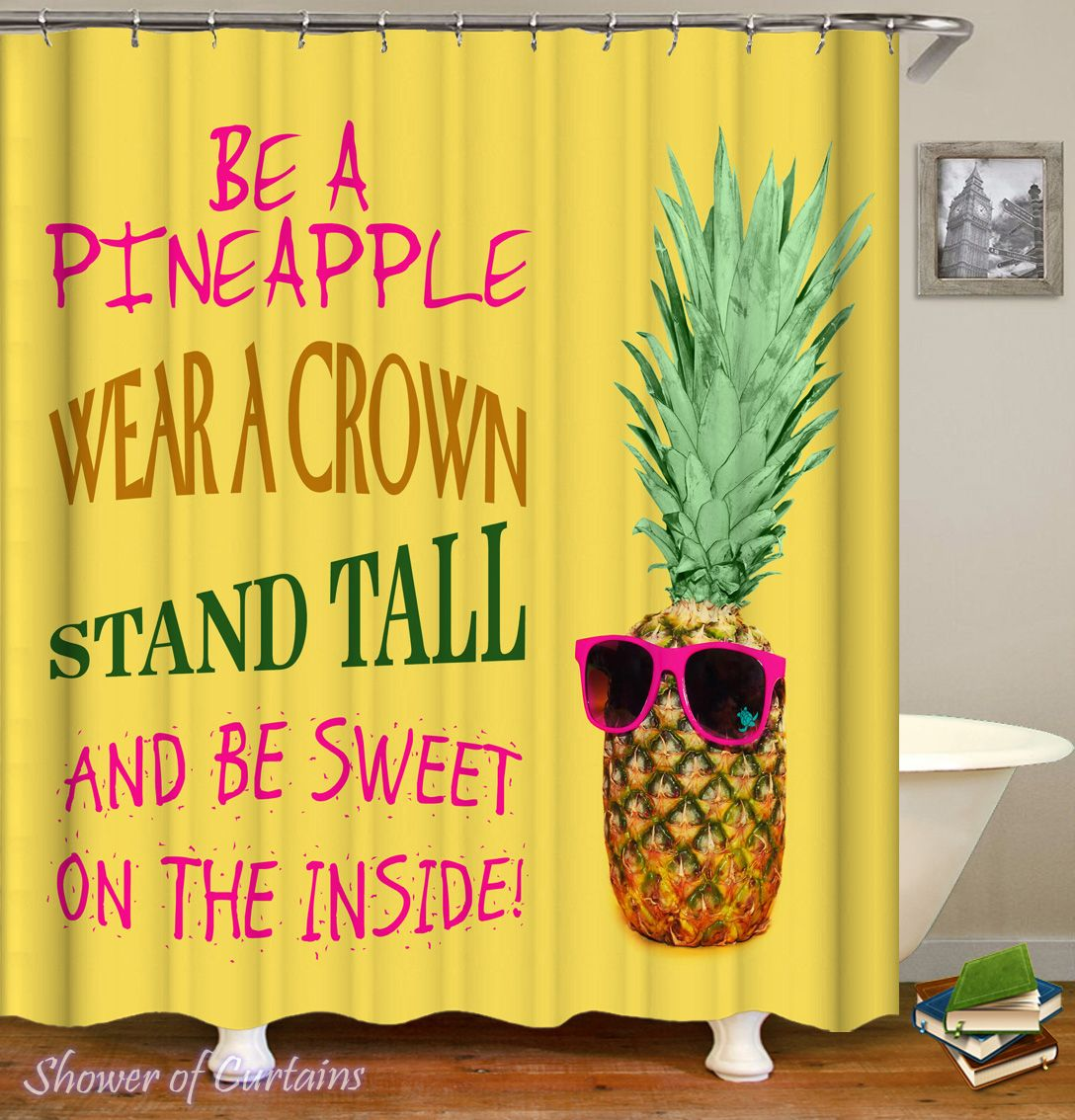 Be A Pineapple Shower Curtain - HXTC0429