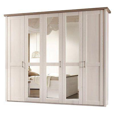 Details zu SCHLAFZIMMER KLEIDERSCHRANK 5 TÜRIG WEISS TRÜFFEL - landhaus schlafzimmer weiß