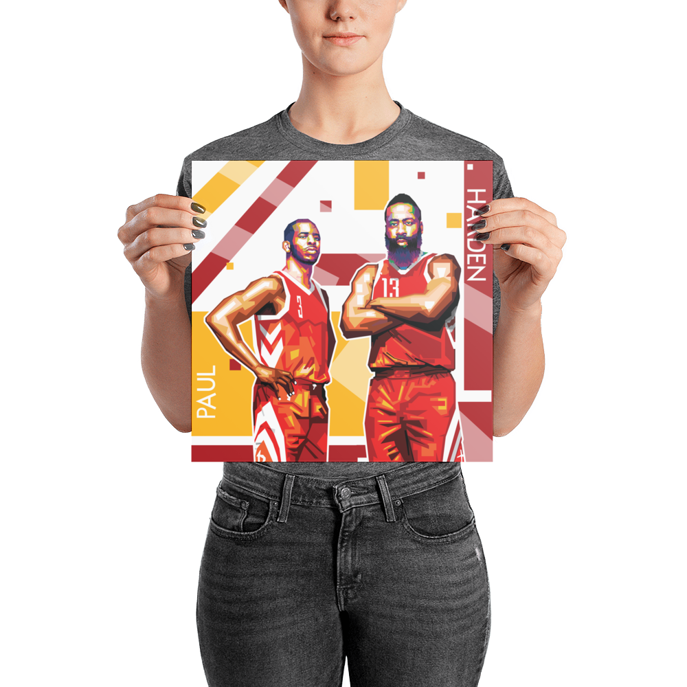 Harden and Paul Pop Art Poster Pop art posters, Nba t