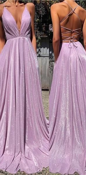 Shinning Simple Sparkly A-line Spaghetti Straps Fashion Long Prom Dresses, Prom Dress, Evening Gowns, PD1371 Shinning Simple Sparkly A-line Spaghetti Straps Fashion Long Prom Dresses, Prom Dress, Evening Gowns, PD1371