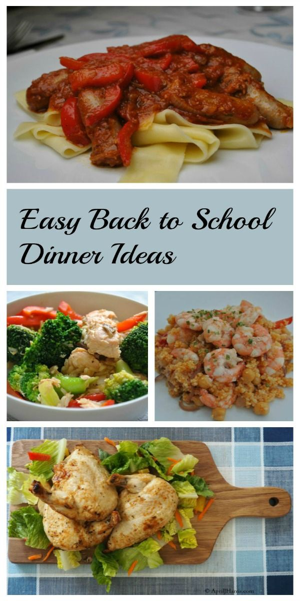 Easy back to school dinner ideas and recipes are the key to making a full schedule much more manageable and life a lot more fun.
