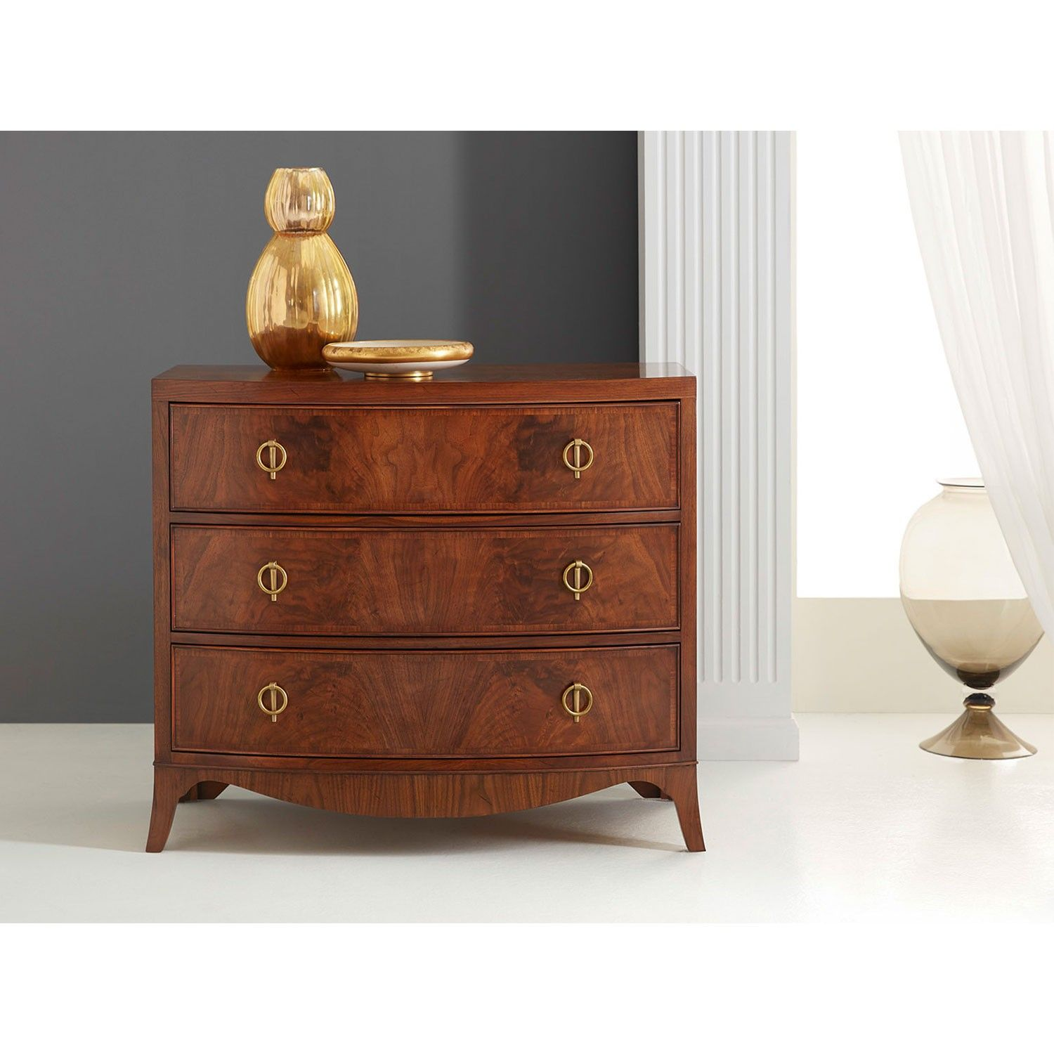 LEXINGTON FURN CHERRY NIGHTSTAND 3 DRAWER CHIPPENDALE BACHELOR CHEST DRESSER