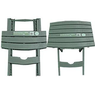Plastic Folding Patio End Table, 2 Pc Set (Quick Fold) (Great