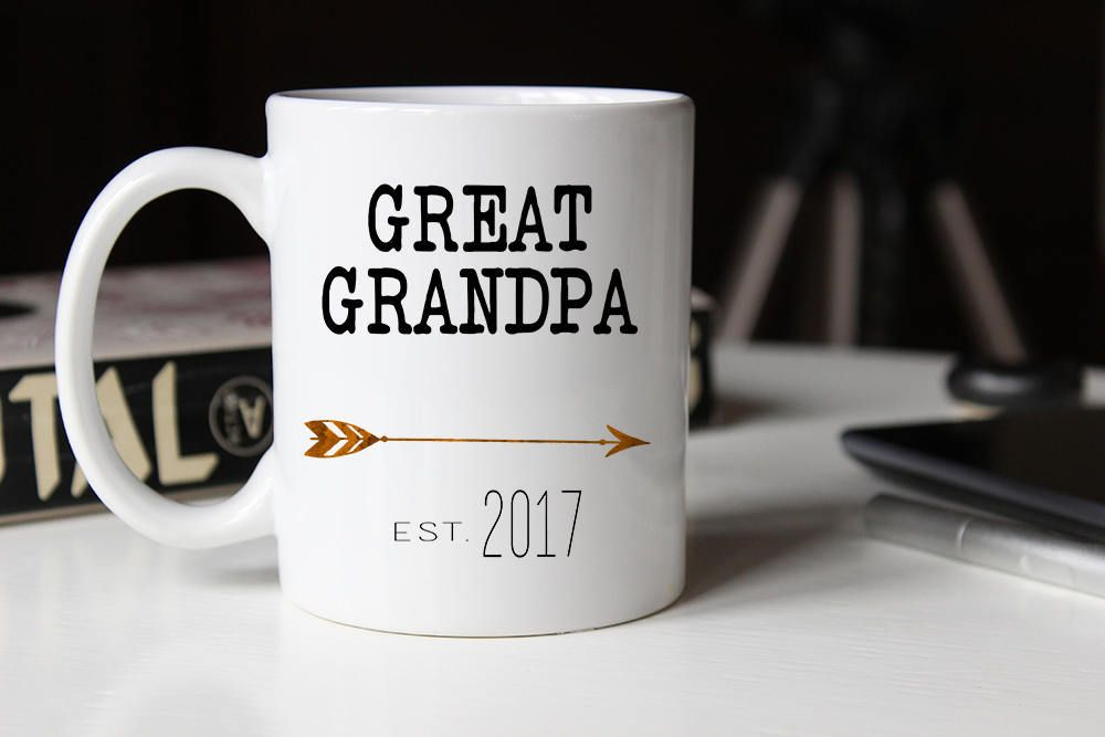 Great Grandpa Mug Grandpas Gift Coffee Pregnancy Reveal For Dad By Weefersgifts On Etsy