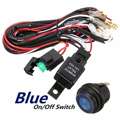 Audew 40a 12v Led Light Bar Wiring Harness Relay On Off Switch For Jeep Off Road Vehicles Atv Led Light Bars 12v Led Lights Road Vehicle