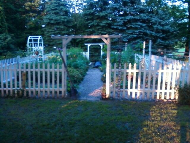 My picket fence garden. FLOWERS