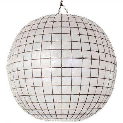 Jonathan Adler Capiz Globe Pendant Large Globe Pendant Shell
