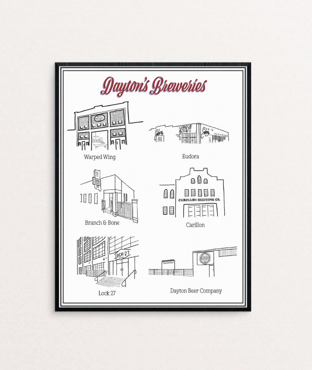 Dayton Ohio Breweries Print [Digital File]